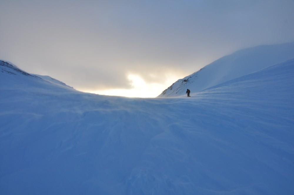 Auf dem windigen Weg nach Steensfjellet. Foto: M. Kämmerer