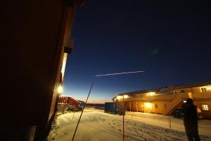 Eine russische Weltraumrakete tritt in die Erdatmosphäre ein (Foto: Matthias Buschmann)