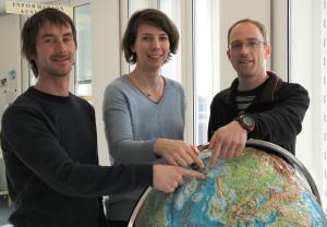 Das zukünftige AWIPEV Team )von links nach rechts): Thomas Ribeaud, Kathrin Lang, und René Bürgi