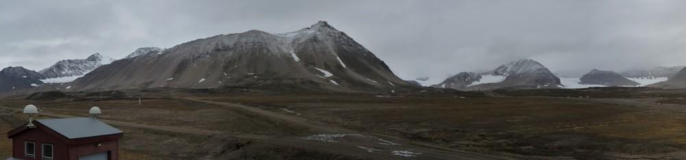 Der Zepplinberg mit dem ersten Schnee