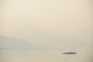 Dunst über dem Kongsfjord