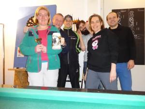 Das komplette Dart-Team (Annemarie, Markus, Frank, Andi, Petra, Jens) . Foto: Alfred-Wegener-Institut