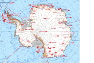 Eine Übersicht über alle Forschungsstationen in der Antarktis. Quelle: COMNAP