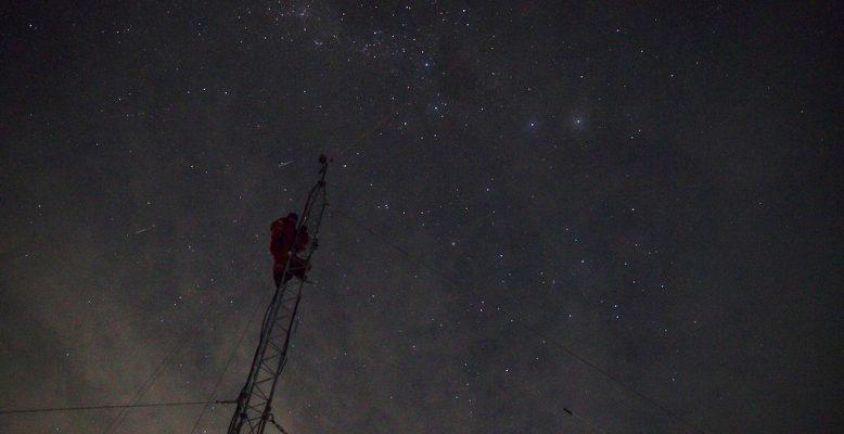 Antennenreparatur (Foto: Matthias Maasch)