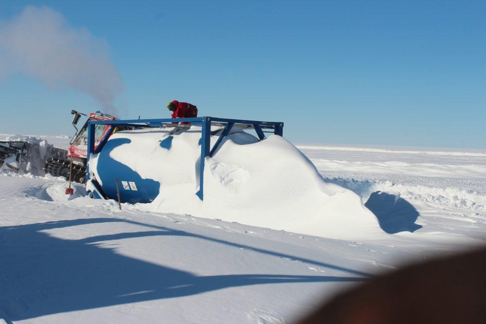 Ausgrabung des Tanks (Foto: Bernhard Gropp)