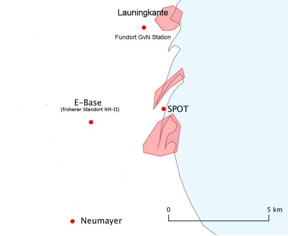 Fundort der Georg v. Neumayer Station (Karte Matthias Maasch)