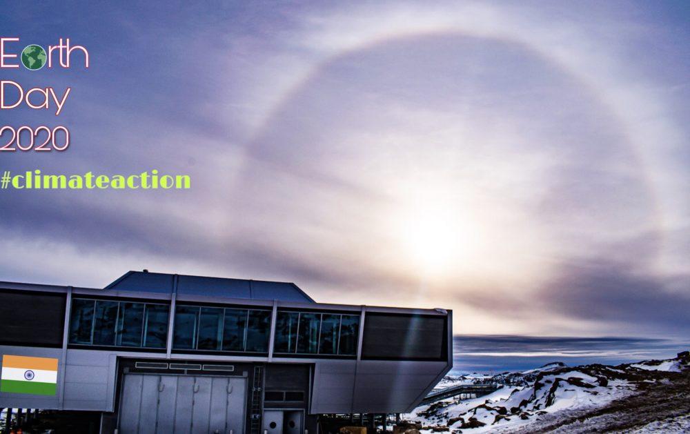 Grüße zum Earth Day 2020 aus der indischen Antarktis-Station Bharati