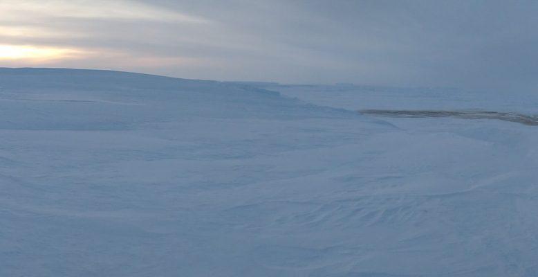 Panoramaaufnahme in der Eiswüste
