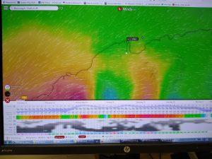 Screenshot des Wetterberichts