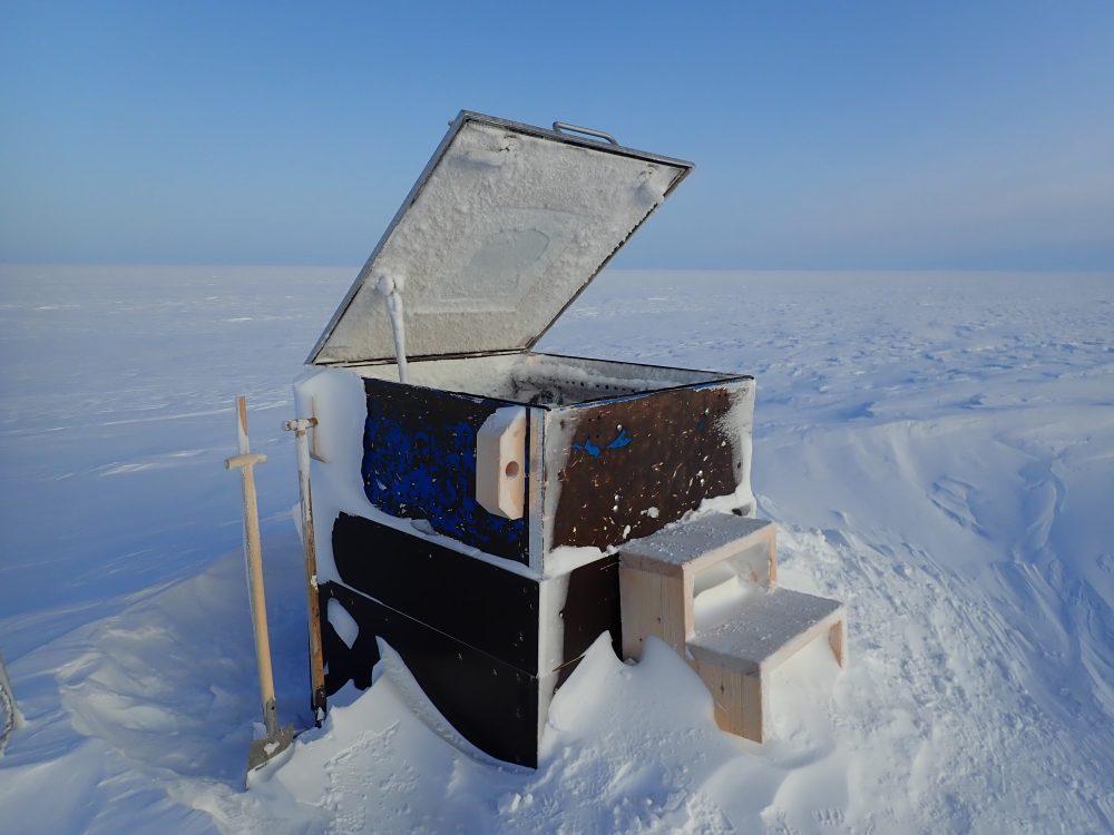 Magnetikobservatorium in der Antarktis