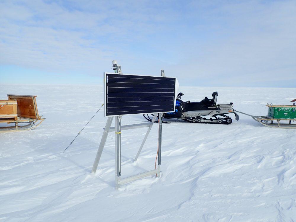 Mobile Station im Schnee