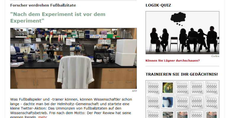 Screenshot Spiegel Online