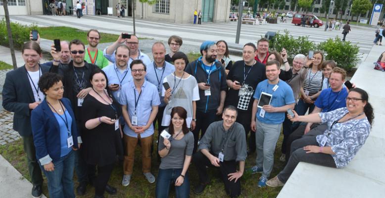 TeilnehmerInnen des ScienceTweetups. Foto: Lange Nacht der Wissenschaften / David Ausserhofer.