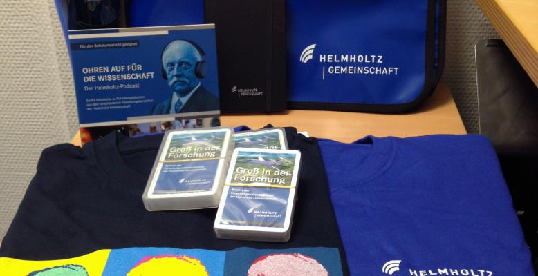 Preise des Gewinnspiels zum Helmholtz-Tag