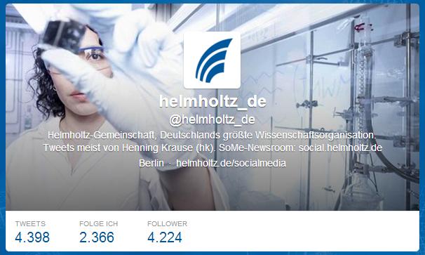 Helmholtz auf Twitter