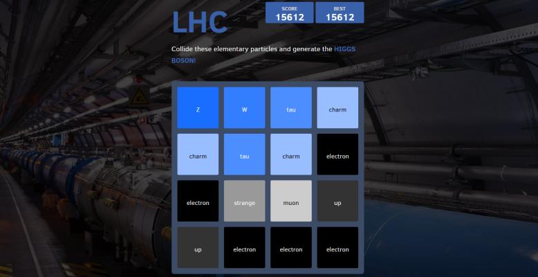 2048, Teilchenzoo-Version. Bild: Matt LeBlanc / CERN.