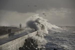 Sturm auf Helgoland. Bild: AWI