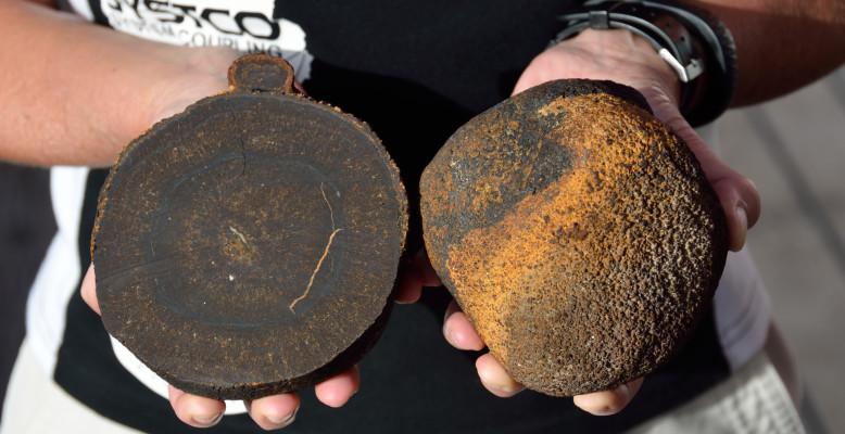 Mehr als 10 Millionen Jahre alte Mangan-Knollen im Atlantik gefunden - Foto: Thomas Walter