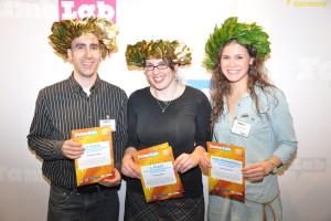 Die Gewinner des FameLab-Vorentscheids Berlin/Brandenburg 2012. Bild: GFZ.