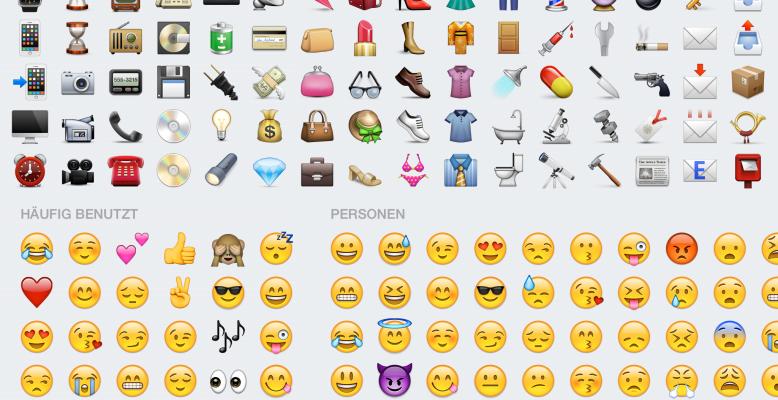 Emojis - der Standard-Zeichensatz der Whatsapp-Generation