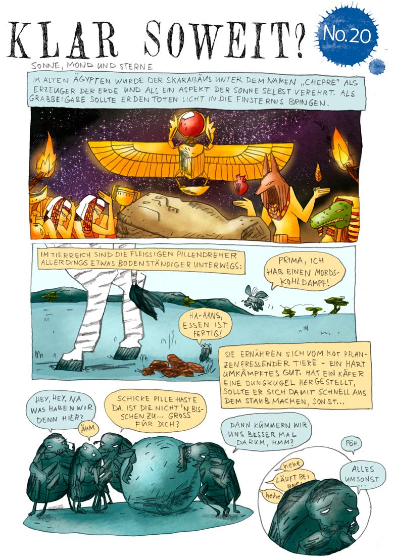 Wissenschaftscomic Mistkäfer Navigation Milchstraße