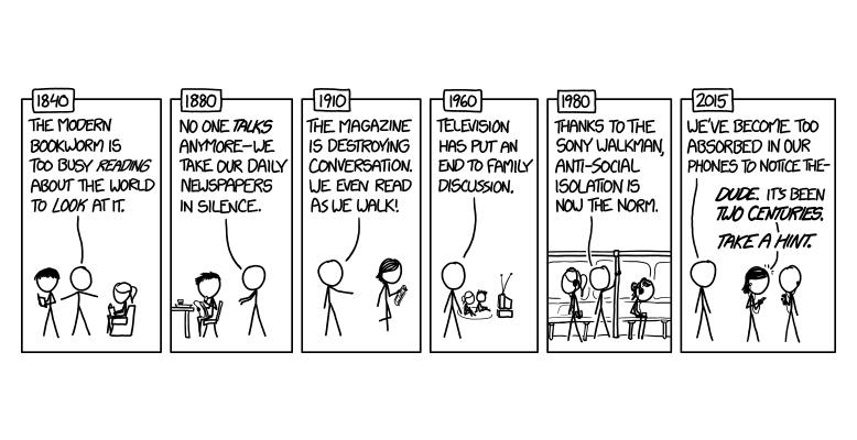Der Wandel der Kulturtechniker und die Konservativen. Bild: Randall Munroe / XKCD, CC-BY-NC 2.5