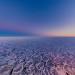Antarktis, Juni 2013: Pfannkucheneis bei Abendlicht im Südpolarmeer, fotografiert während des Polarstern-Winterexperimentes 2013. Foto: Stefan Hendricks/AWI