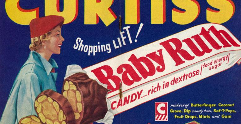 Reklame für einen Schokoriegel von 1952. Bild: Classic Film, CC-BY-NC 2.0