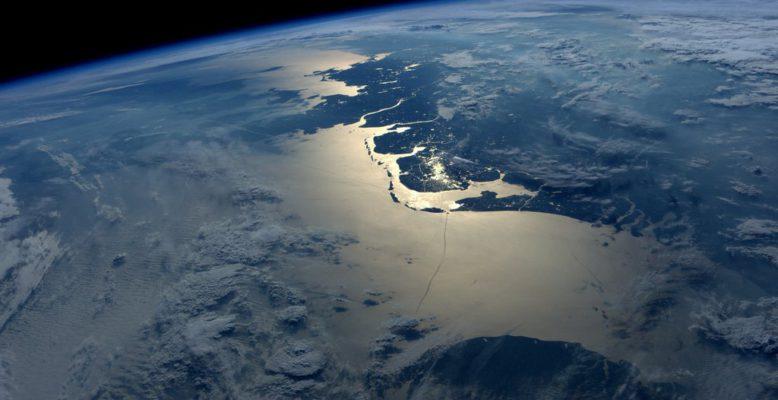 Die Nordsee aus dem Orbit. Bild: NASA