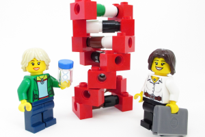 "Lego-DNA-Forscherinnen ""The Bioneers"". Bild: LEGO."