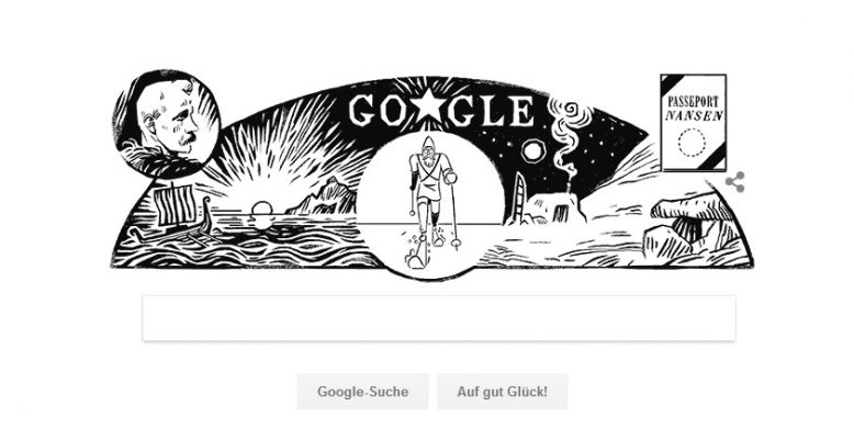 Am 10. Oktober 2017 spendierte Google dem Polarforscher Fridtjof Nansen ein Doodle.