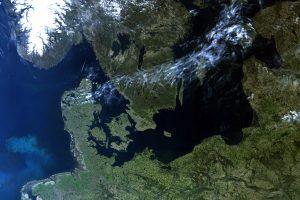 Nordeuropa vom europäischen Sentinel-Satelliten aus gesehen. Bild: ESA/Eumetsat, CC BY-SA 3.0 IGO