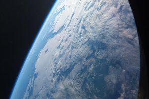 Alexander Gersts erstes Foto aus dem Sojus-Raumschiff beim Anflug zur Internationalen Raumstation Anfang Juni 2018. Bild: ESA
