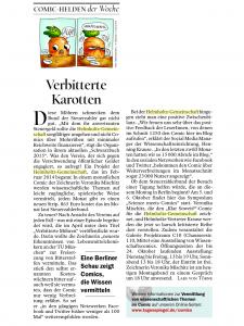 """Tagesspiegel-Beitrag zum """"Klar soweit?""""-Comic aus Oktober 2015"""