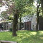 Das Gästehaus liegt im Grünen. Bild: GSI