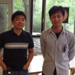 Bao-Hua (l.) und Hiroki (r.) wohnen im Gästehaus. Bild: GSI