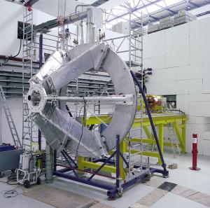 Der HADES-Magnet vor seinem Einbau. Bild: GSI