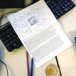 Noch keine Langweile: das Kreuzworträtsel ist noch leer. Bild: GSI