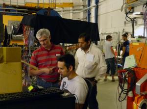 Carsten Schwarz (in Rot) und PANDA-Wissenschaftler. Bild: GSI