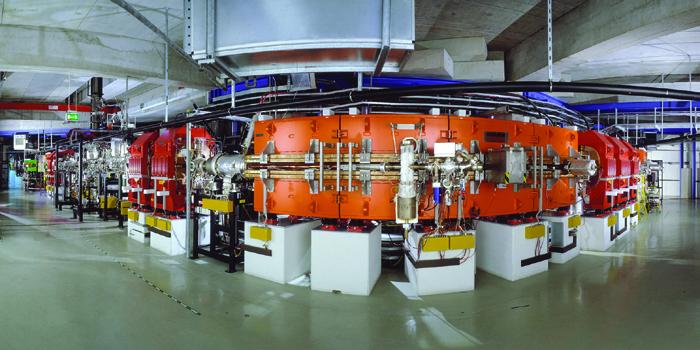 Experimeniterspeichering ESR. Mit ihm werden die Neutrino-Oszillationen untersucht. Bild: GSI