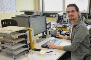 Andreas Schroer kam als Schüler zu GSI und bewarb sich einige Jahre später sofort, als es ein zu ihm passendes Job-Angebot gab. Foto: G. Otto/GSI