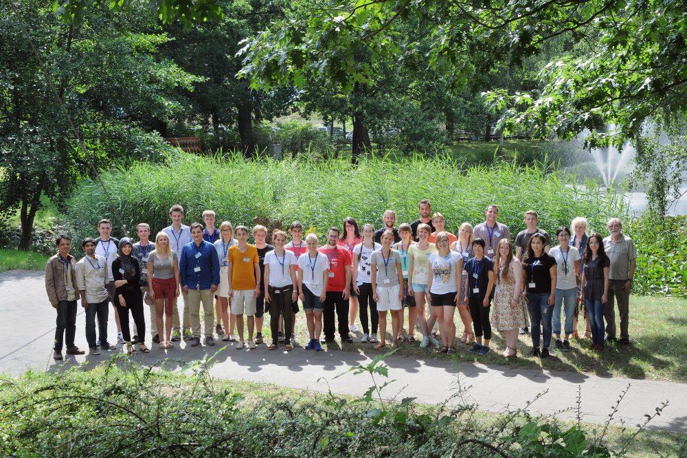 Insgesamt 34 Studentinnen und Studenten aus 20 Ländern nehmen am Sommerstudentenprogramm 2016 von FAIR und GSI teil. Foto: G. Otto/GSI