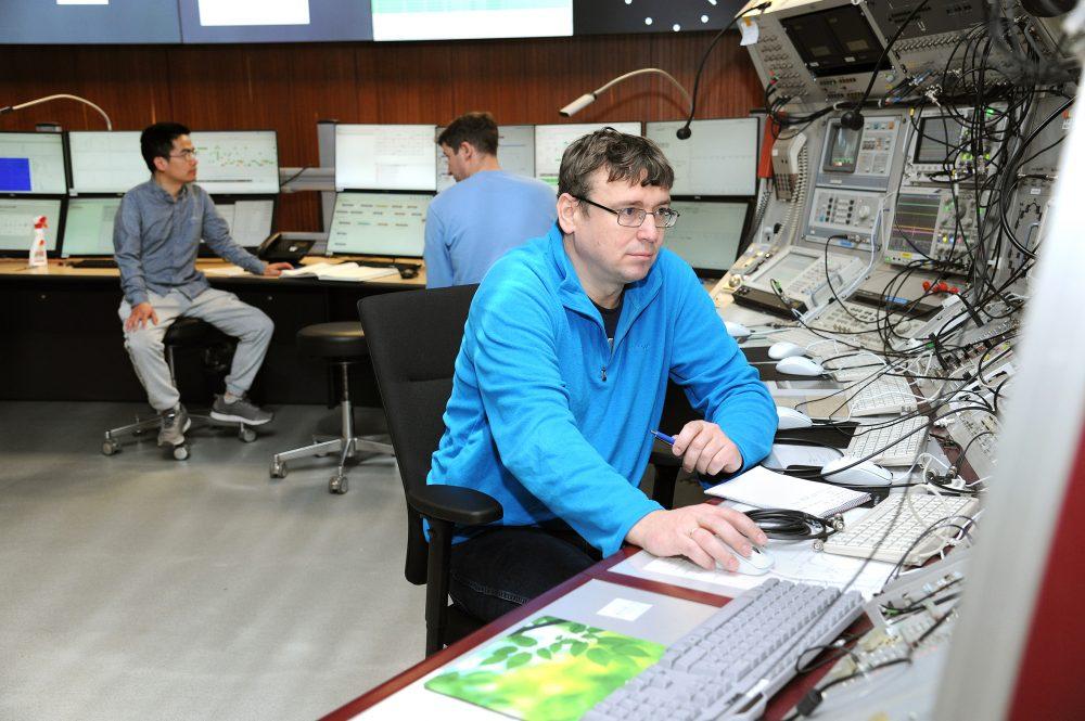 Professor Yuri Litvinov in the main control room.
