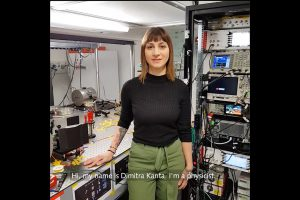 Dimitra Kanta is a physicist and builds magnetometers. Photo: GSI/FAIR/L. Weitz