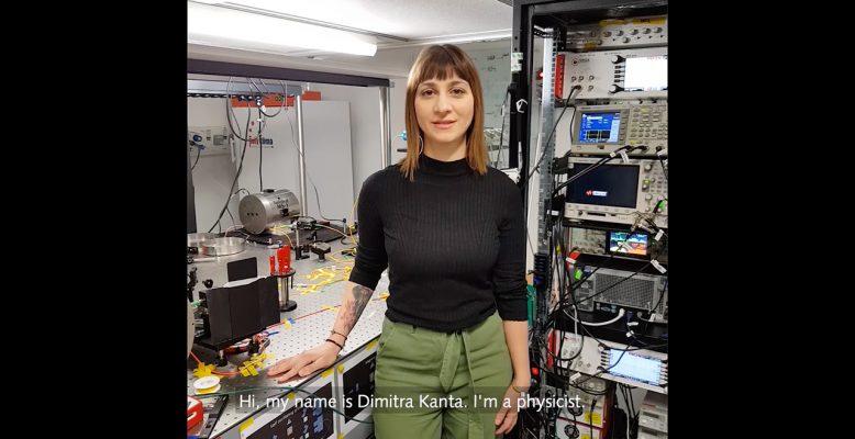 Dimitra Kanta ist Physikerin und entwickelt Magnetometer. Foto: GSI/FAIR/L. Weitz