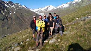 Gruppenfoto: Das Team auf einen Blick
