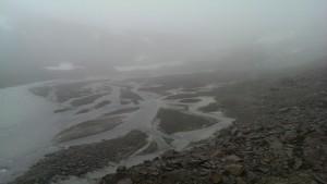 Sanderfläche vor dem Gletschertor der Schwarzkögelezunge