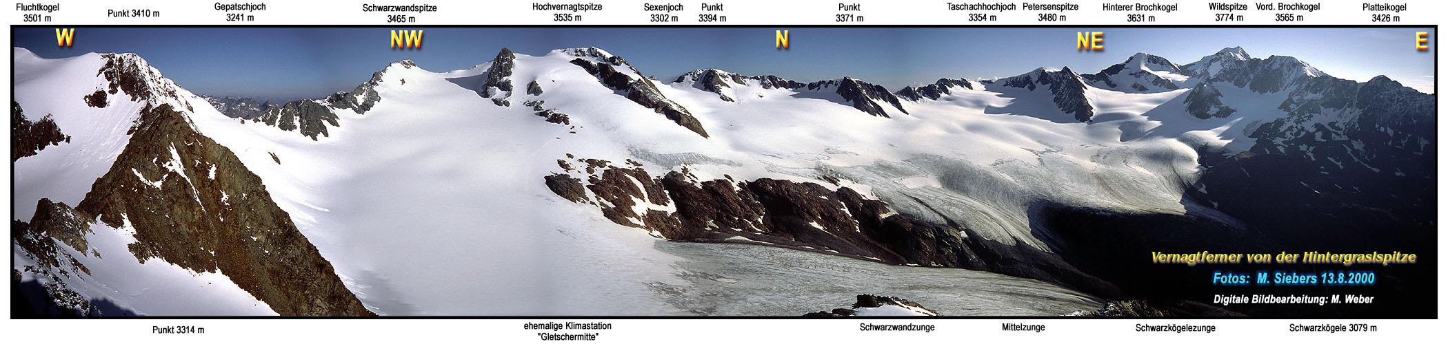 Panoramaansicht des Vernagtferners - glaziologie.de
