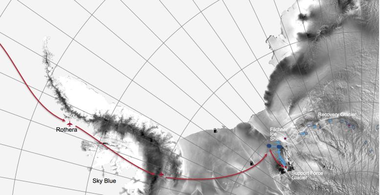 Überblick des Filchner Ice Shelf Projects