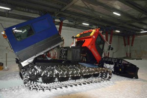 Pistenbully in der Kellergarage an Neumayer III